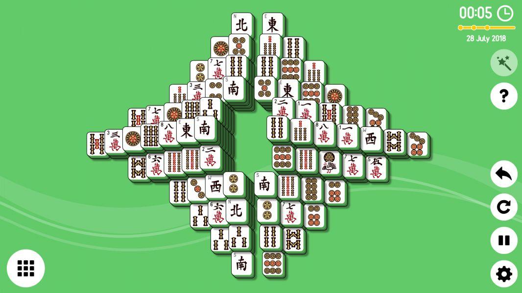 Level 2018-07-28. Online Mahjong Solitaire