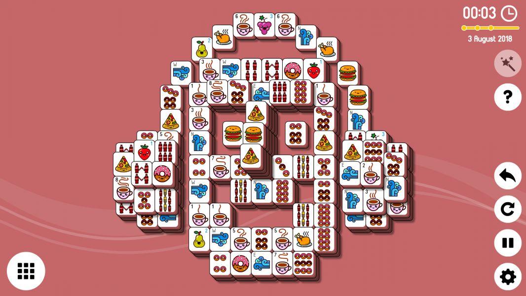 Level 2018-08-03. Online Mahjong Solitaire