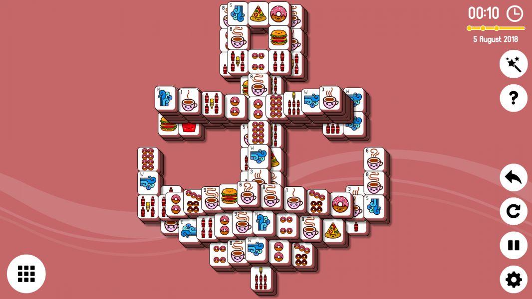 Level 2018-08-05. Online Mahjong Solitaire