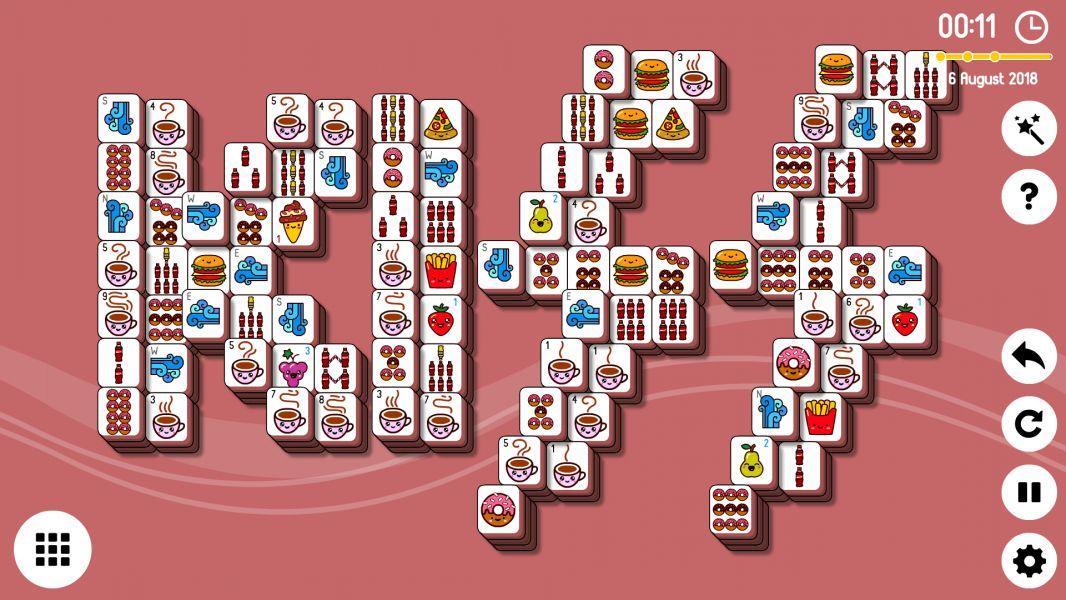 Level 2018-08-06. Online Mahjong Solitaire