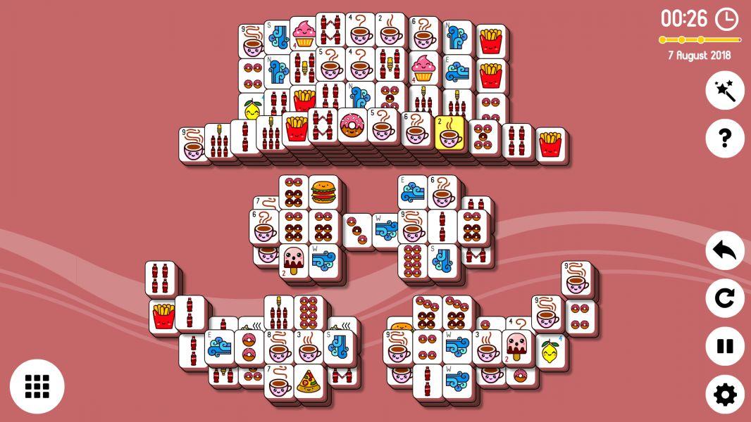 Level 2018-08-07. Online Mahjong Solitaire
