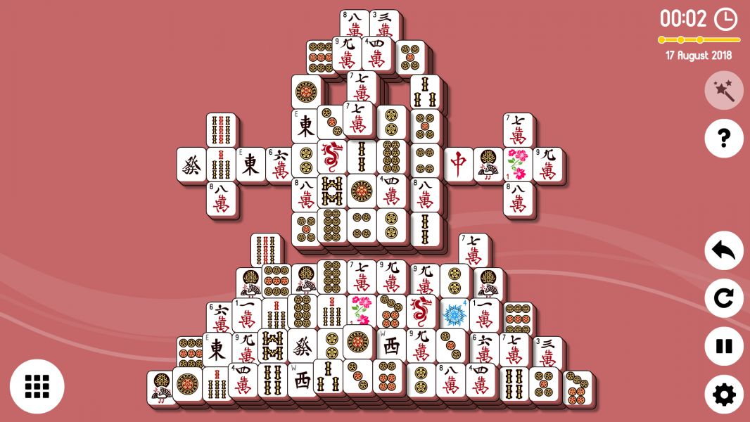 Level 2018-08-17. Online Mahjong Solitaire