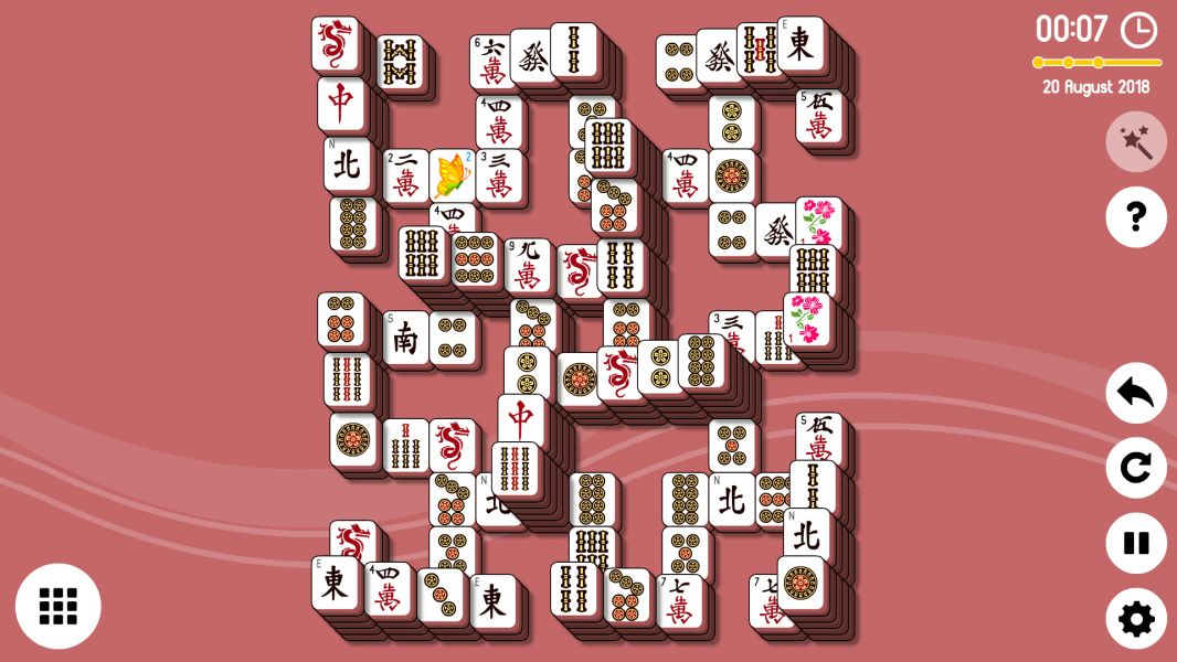 Level 2018-08-20. Online Mahjong Solitaire