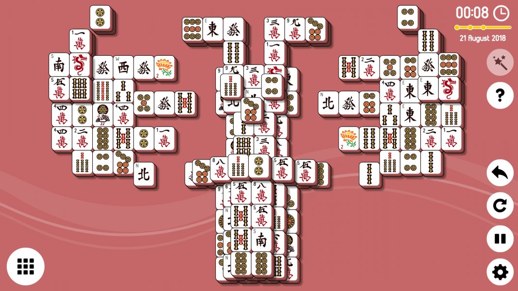Level 2018-08-21. Online Mahjong Solitaire