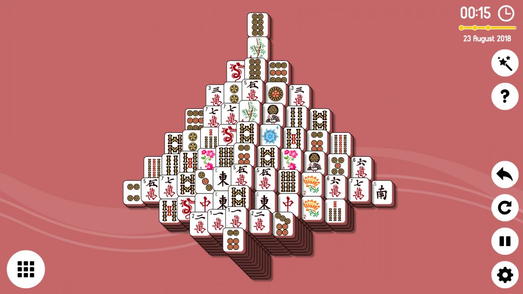 Level 2018-08-23. Online Mahjong Solitaire