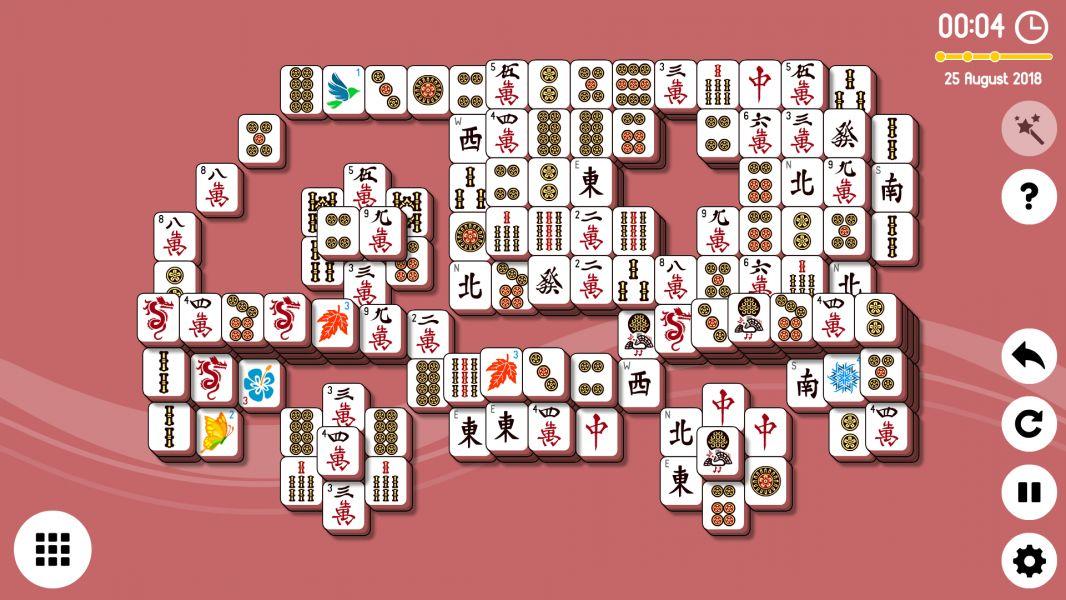 Level 2018-08-25. Online Mahjong Solitaire