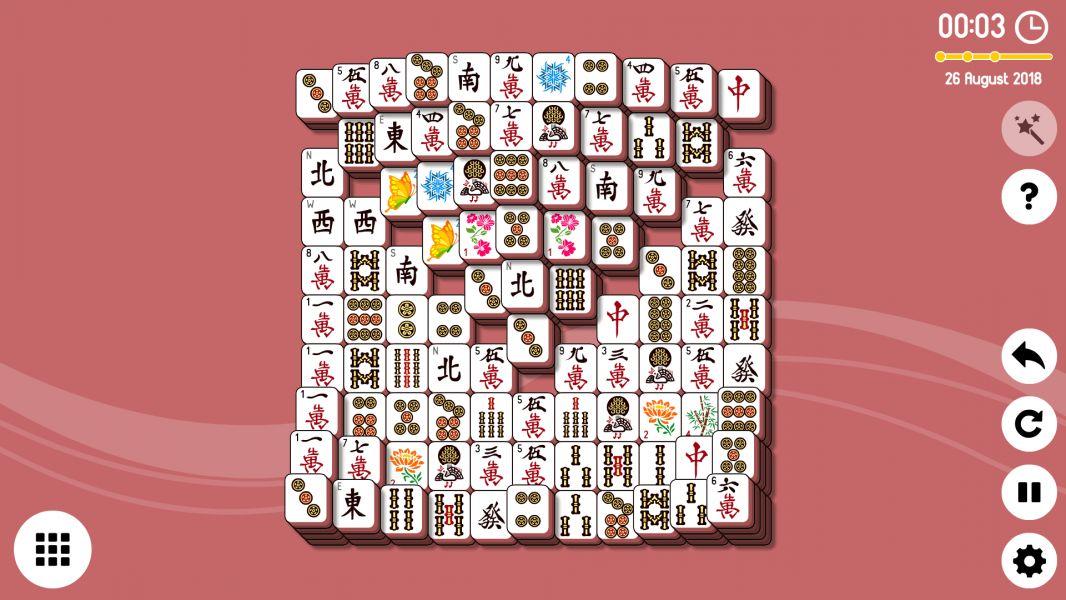 Level 2018-08-26. Online Mahjong Solitaire