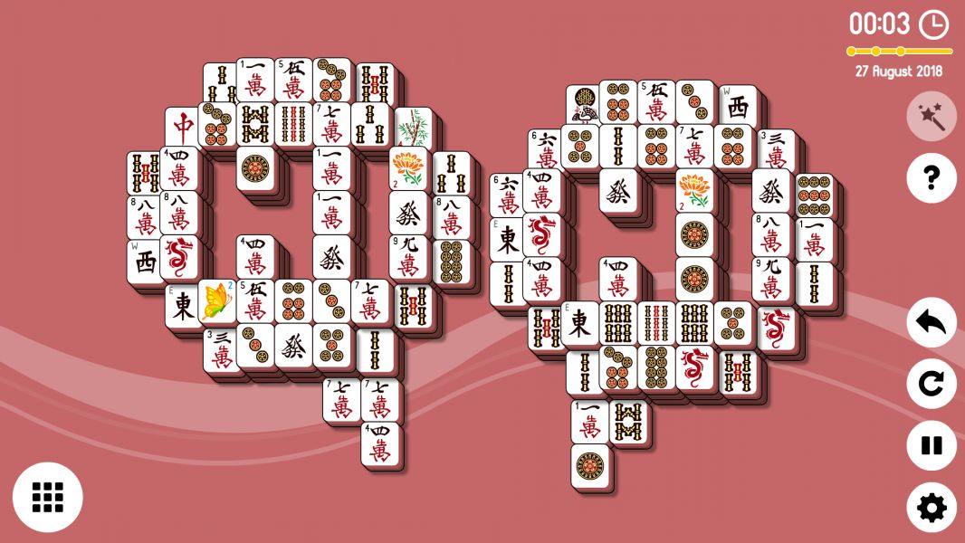 Level 2018-08-31. Online Mahjong Solitaire