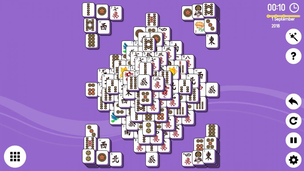 Level 2018-09-01. Online Mahjong Solitaire