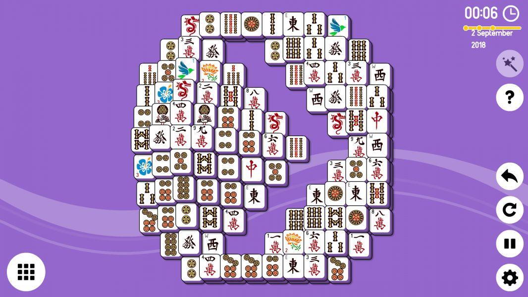 Level 2018-09-02. Online Mahjong Solitaire