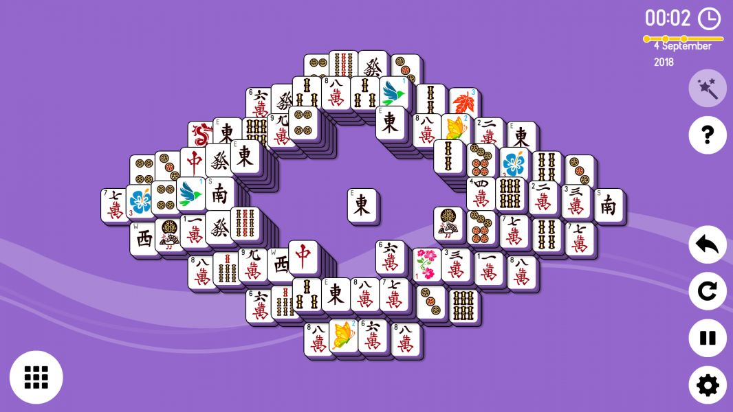 Level 2018-09-04. Online Mahjong Solitaire