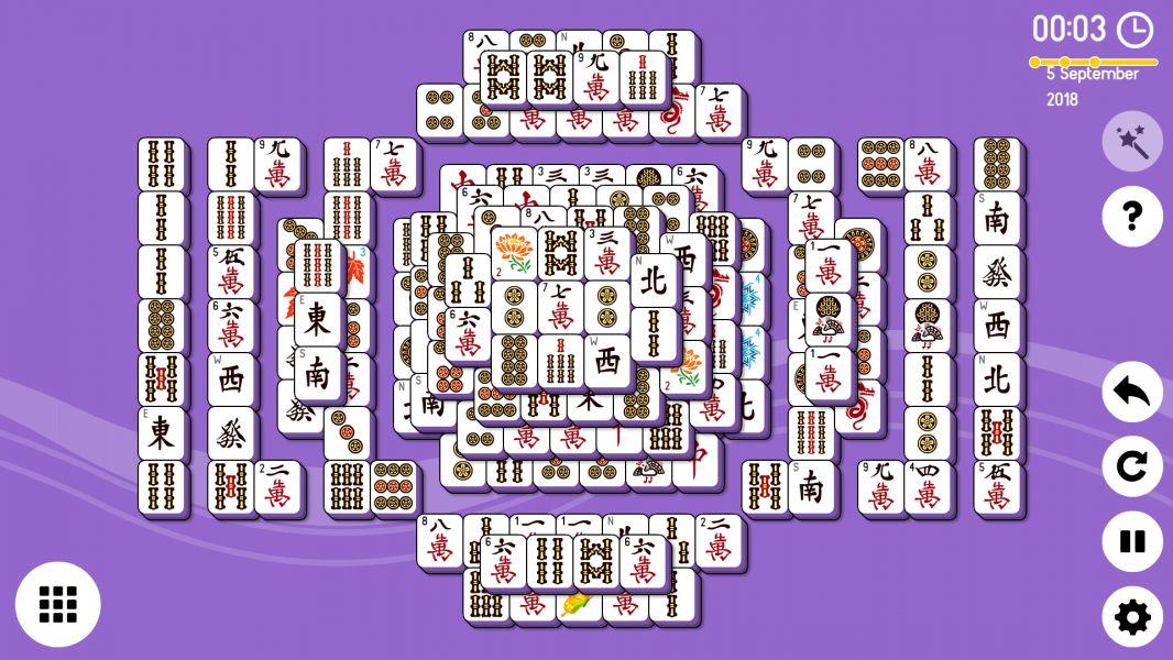 Level 2018-09-05. Online Mahjong Solitaire