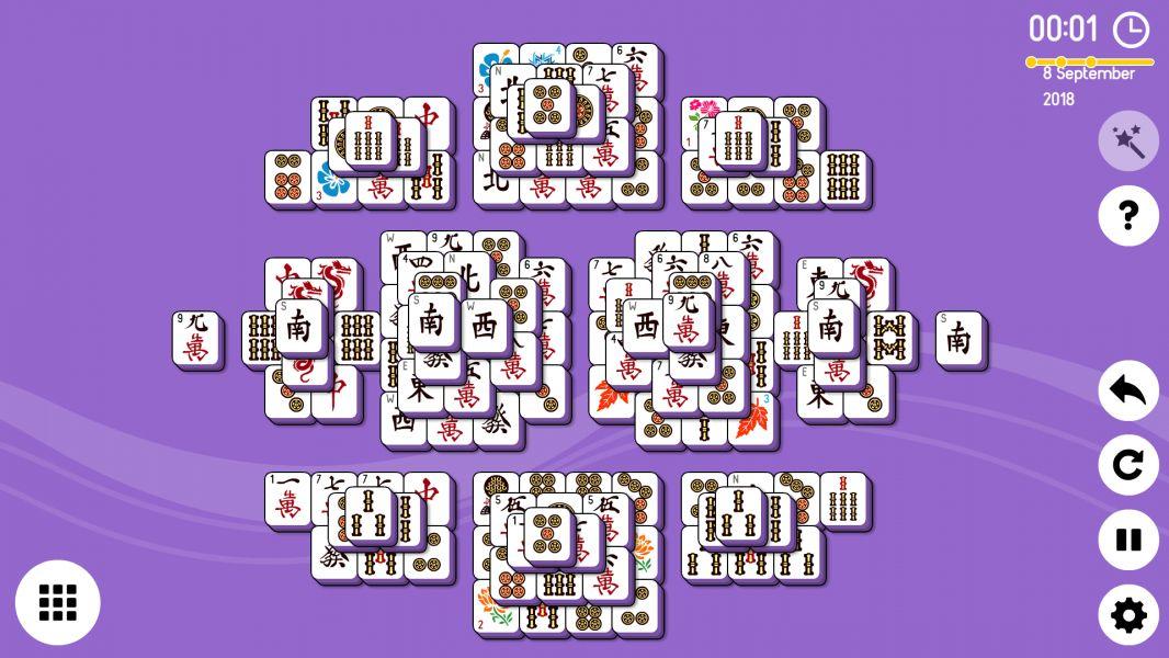 Level 2018-09-08. Online Mahjong Solitaire