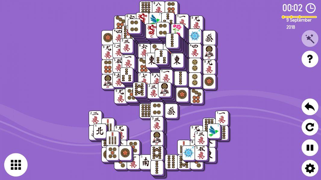 Level 2018-09-09. Online Mahjong Solitaire