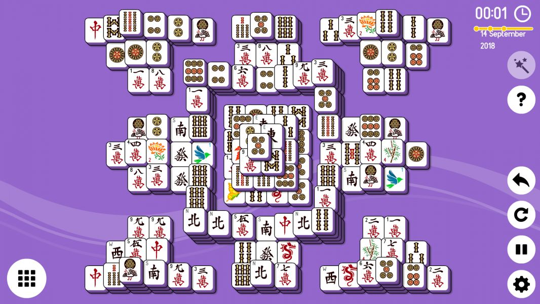 Level 2018-09-14. Online Mahjong Solitaire