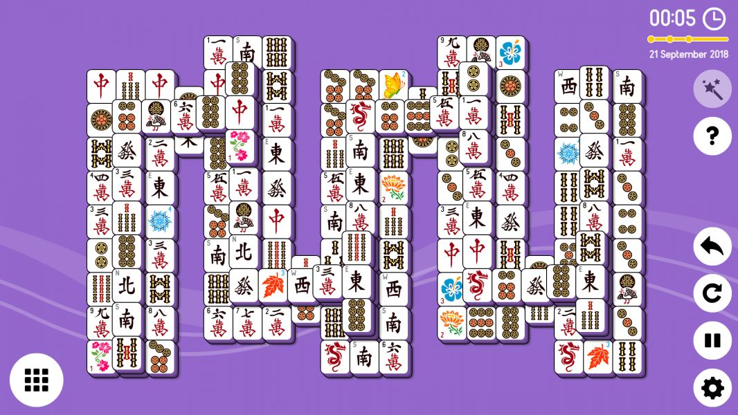 Level 2018-09-21. Online Mahjong Solitaire