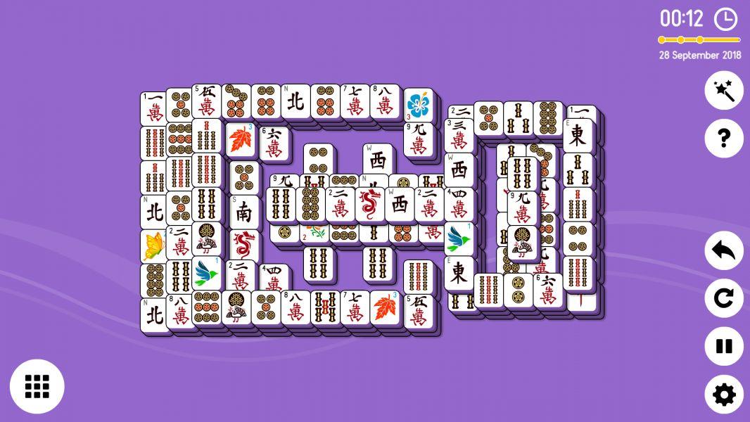 Level 2018-09-28. Online Mahjong Solitaire