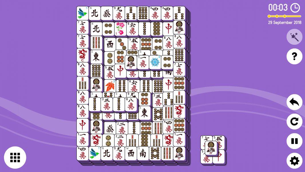 Level 2018-09-29. Online Mahjong Solitaire