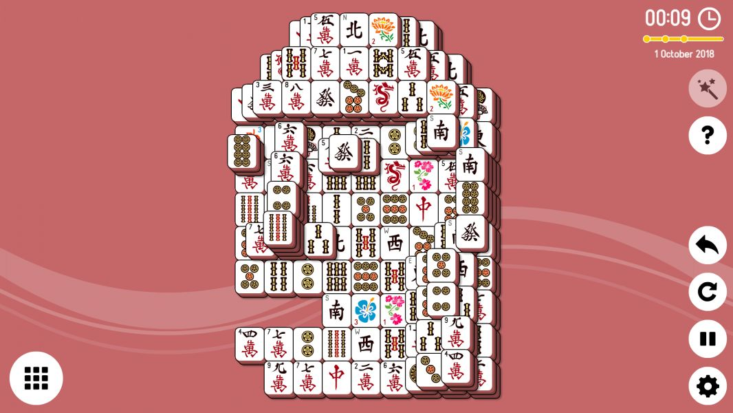Level 2018-10-01. Online Mahjong Solitaire