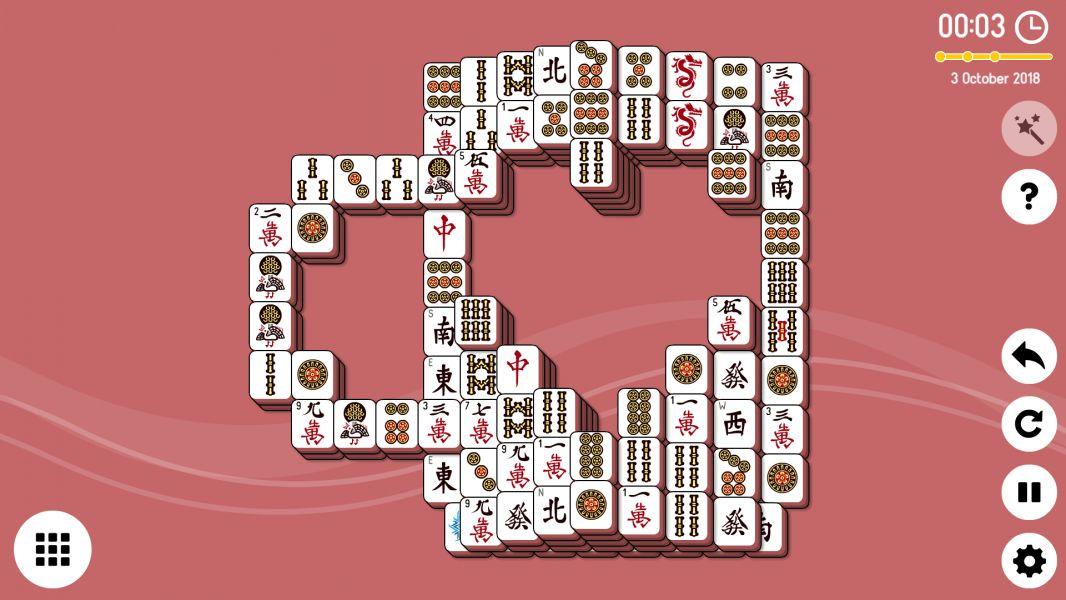 Level 2018-10-03. Online Mahjong Solitaire