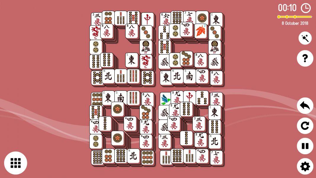 Level 2018-10-08. Online Mahjong Solitaire