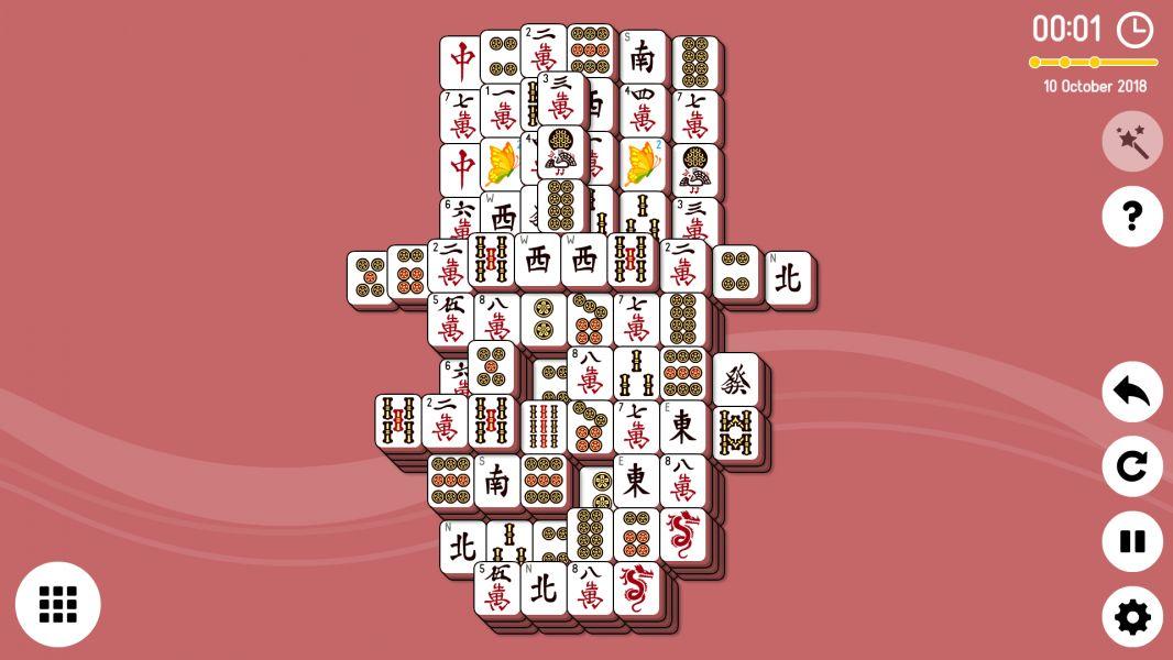 Level 2018-10-10. Online Mahjong Solitaire
