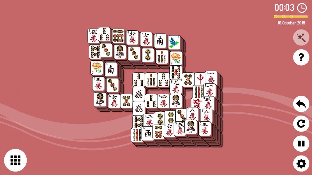 Level 2018-10-16. Online Mahjong Solitaire