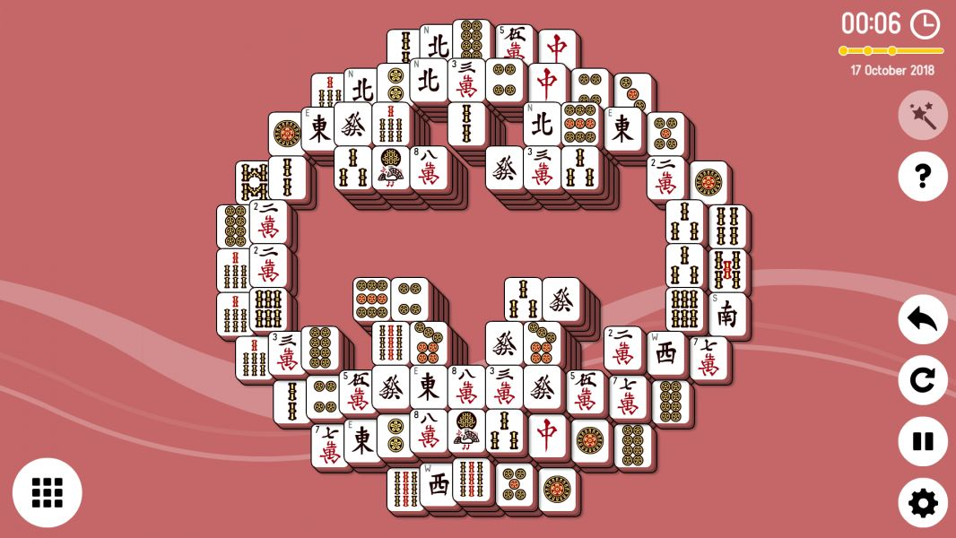 Level 2018-10-17. Online Mahjong Solitaire