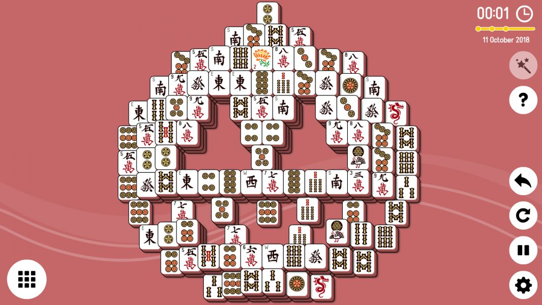 Level 2018-10-20. Online Mahjong Solitaire