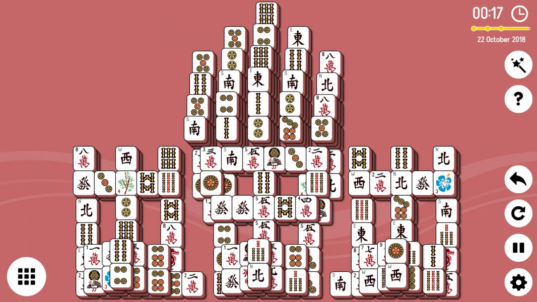 Level 2018-10-22. Online Mahjong Solitaire