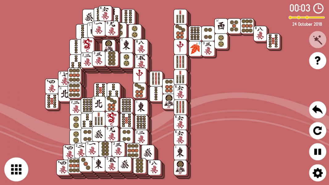 Level 2018-10-24. Online Mahjong Solitaire