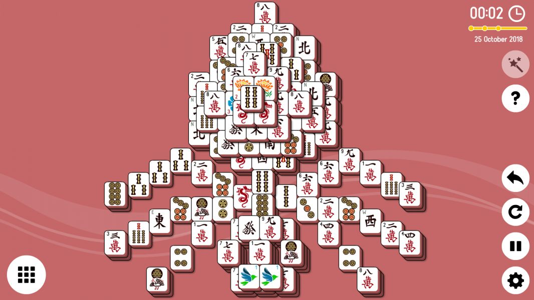 Level 2018-10-25. Online Mahjong Solitaire