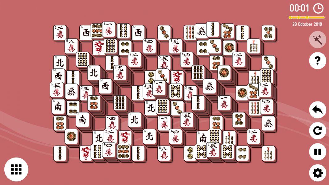 Level 2018-10-29. Online Mahjong Solitaire