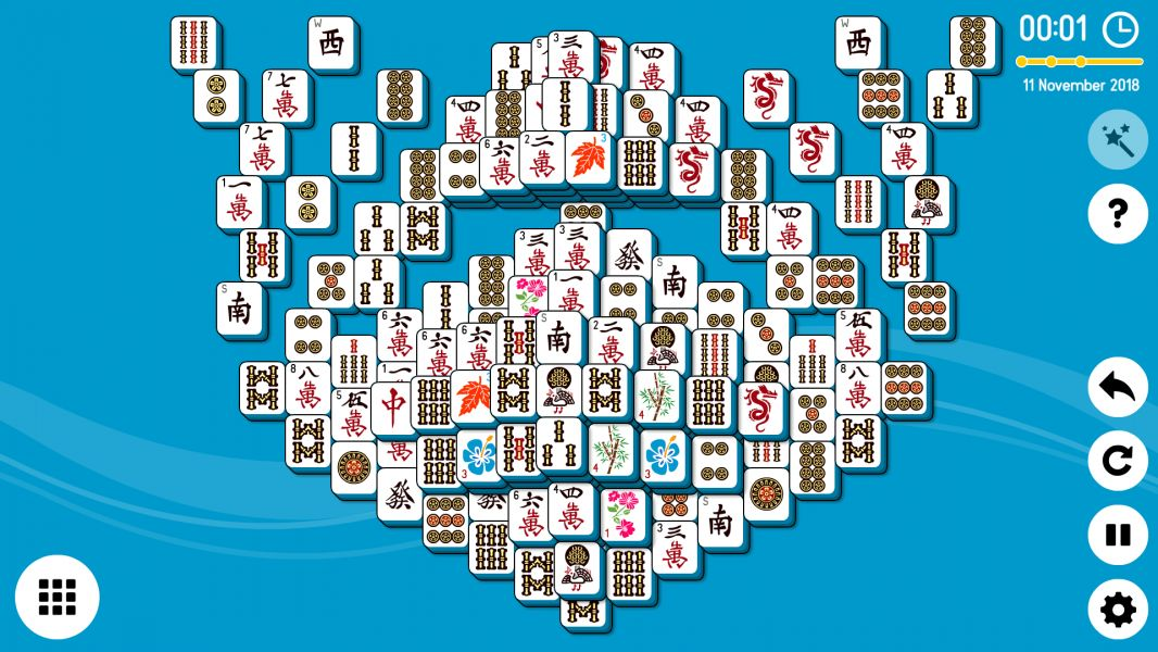 Level 2018-11-11. Online Mahjong Solitaire