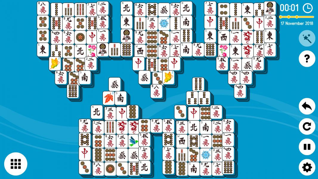 Level 2018-11-17. Online Mahjong Solitaire