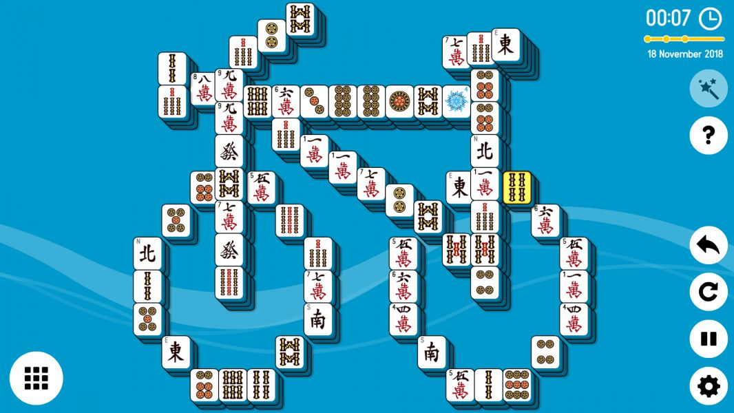Level 2018-11-18. Online Mahjong Solitaire