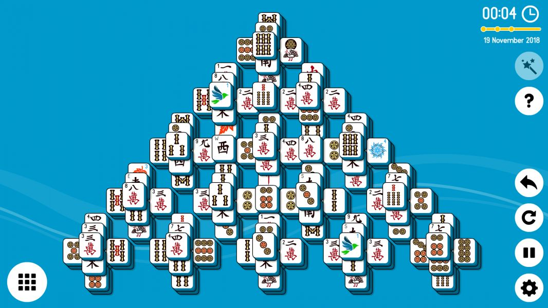 Level 2018-11-19. Online Mahjong Solitaire