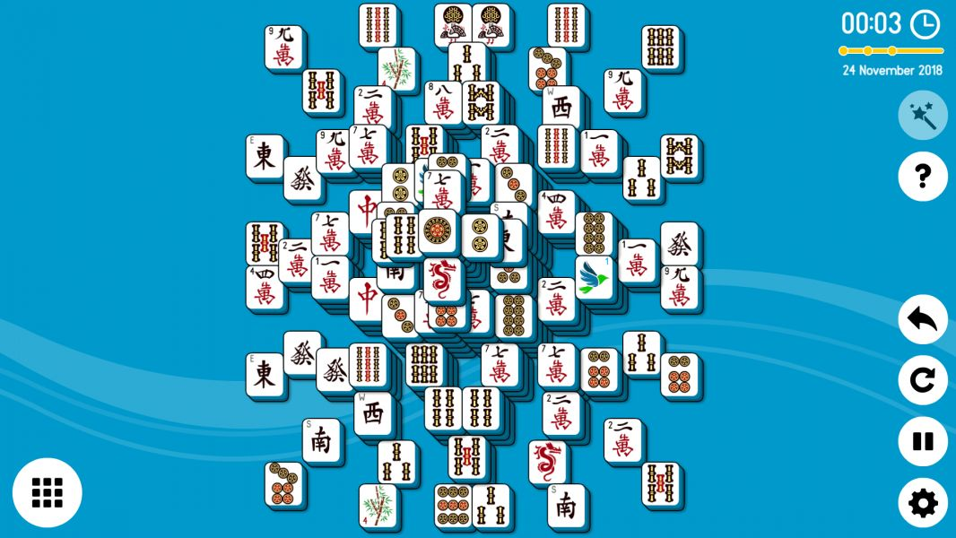 Level 2018-11-24. Online Mahjong Solitaire
