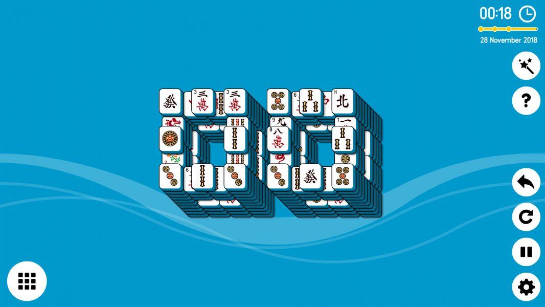 Level 2018-11-28. Online Mahjong Solitaire