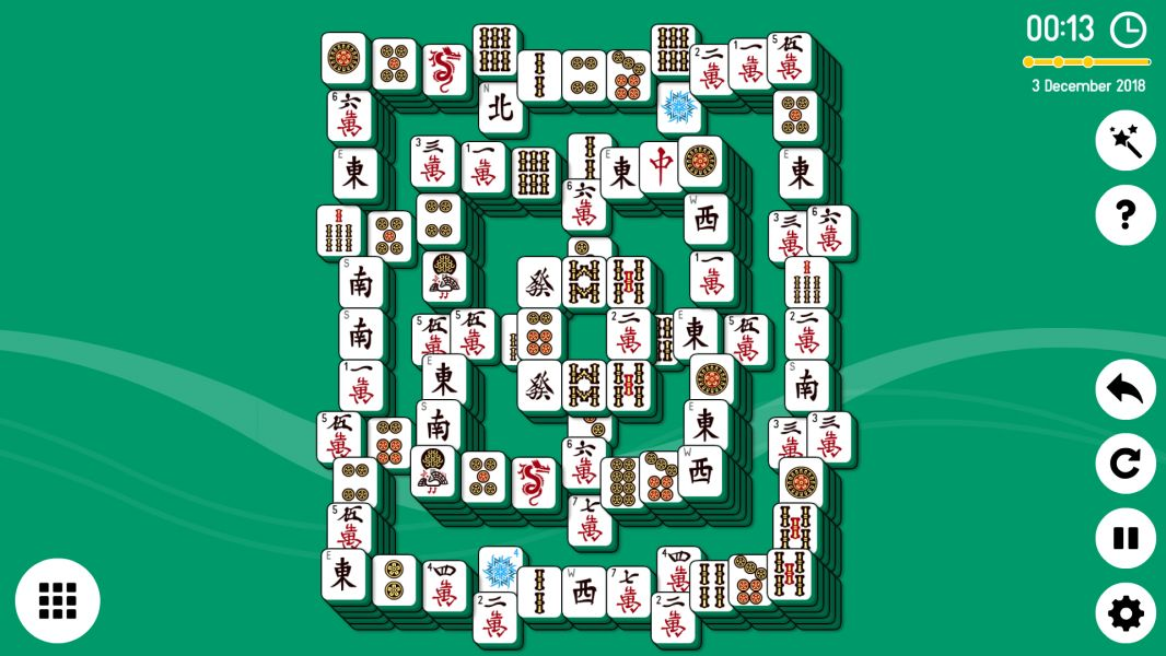 Level 2018-12-03. Online Mahjong Solitaire