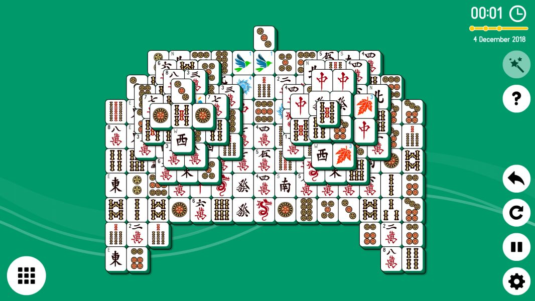 Level 2018-12-04. Online Mahjong Solitaire