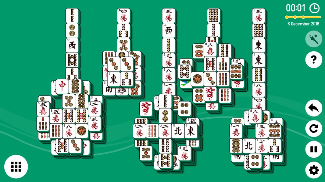 Level 2018-12-06. Online Mahjong Solitaire