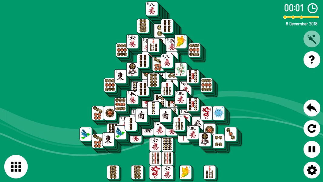 Level 2018-12-08. Online Mahjong Solitaire