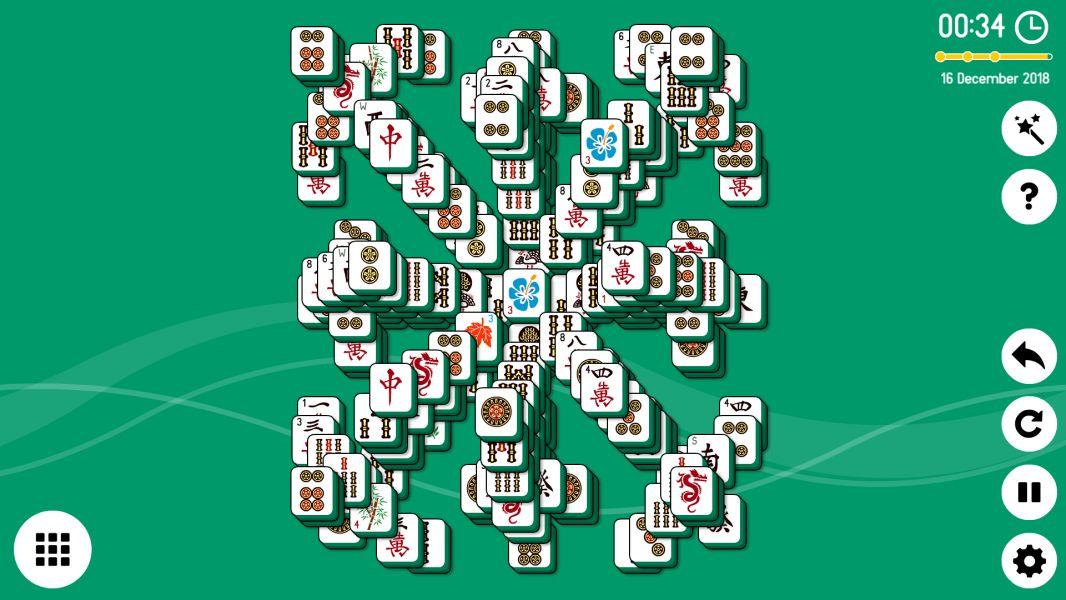 Level 2018-12-16. Online Mahjong Solitaire