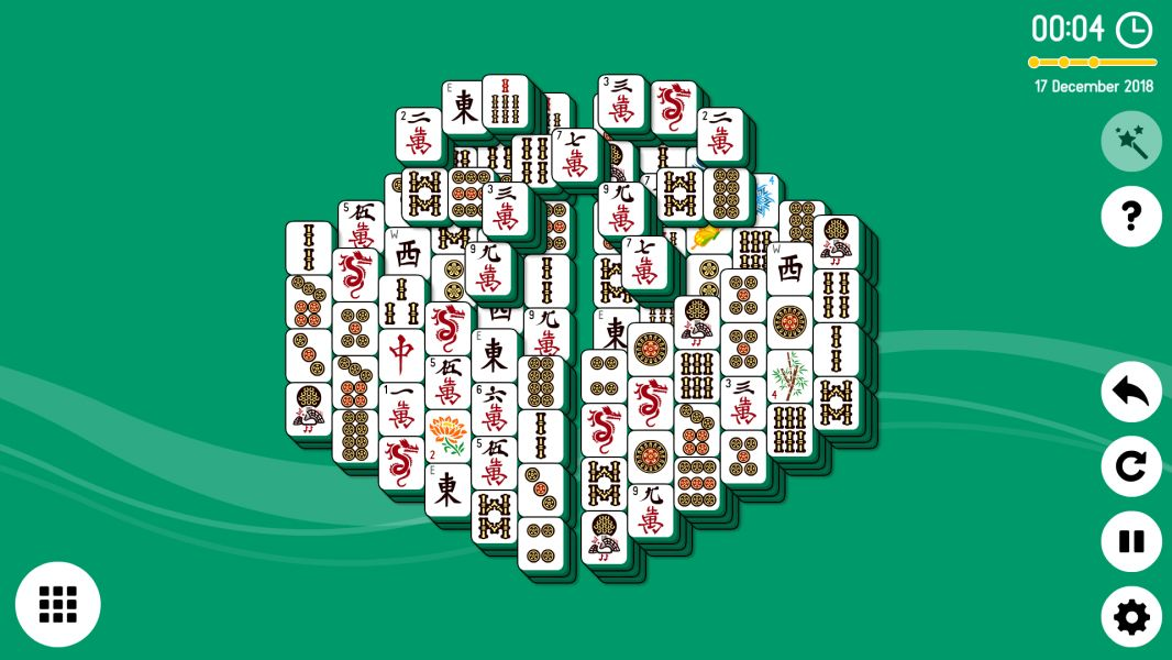 Level 2018-12-17. Online Mahjong Solitaire