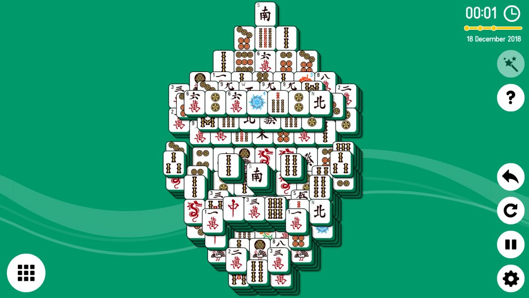 Level 2018-12-18. Online Mahjong Solitaire