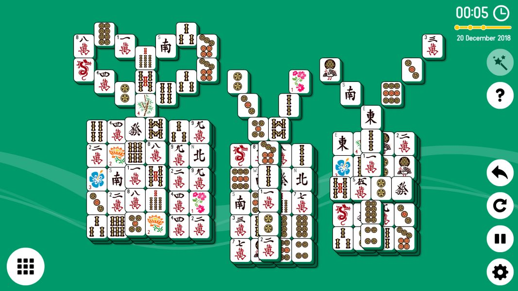 Level 2018-12-20. Online Mahjong Solitaire