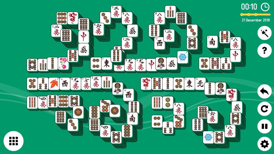 Level 2018-12-21. Online Mahjong Solitaire