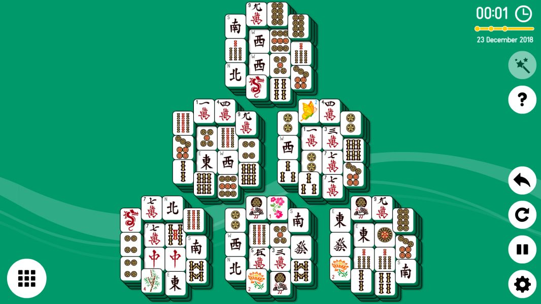 Level 2018-12-23. Online Mahjong Solitaire