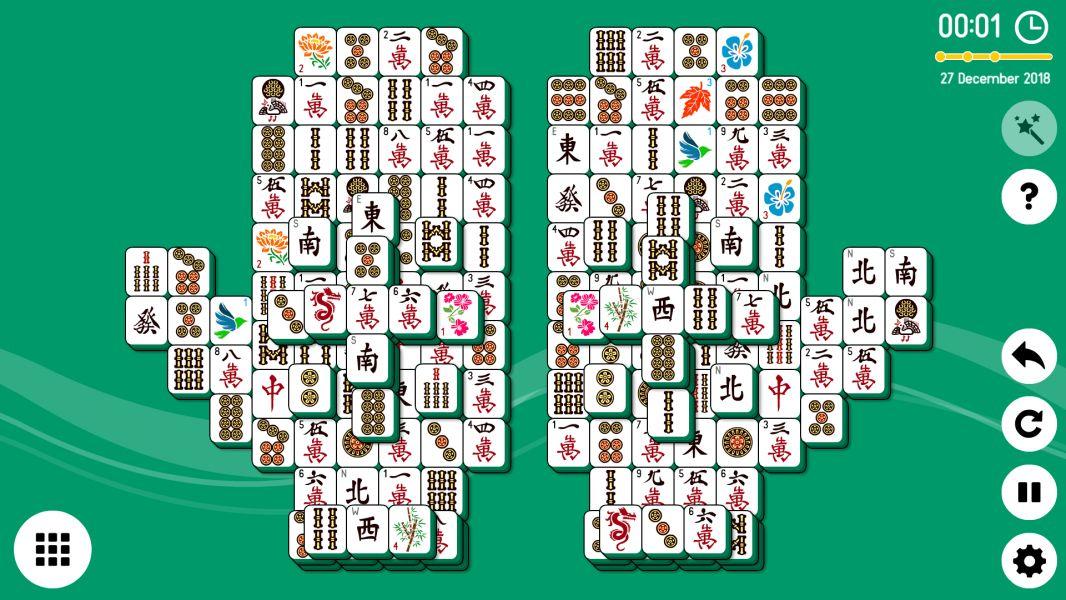 Level 2018-12-27. Online Mahjong Solitaire
